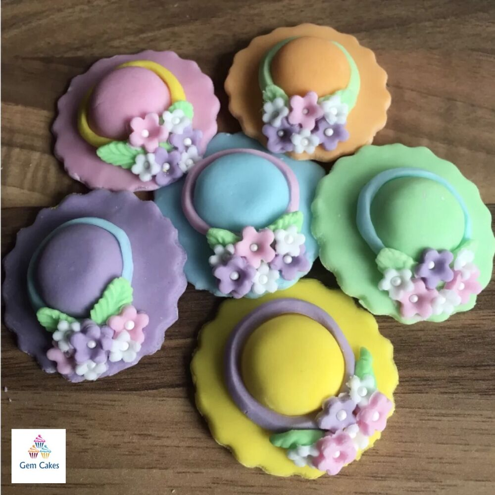 Best 6 Edible Easter Bonnets Pastel Sugar Cake Decorations This Month