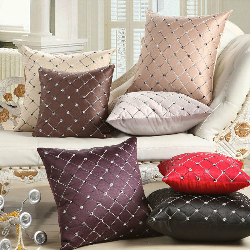 Best Home Sofa Bed Decor Multicolored Plaids Throw Pillow Case This Month