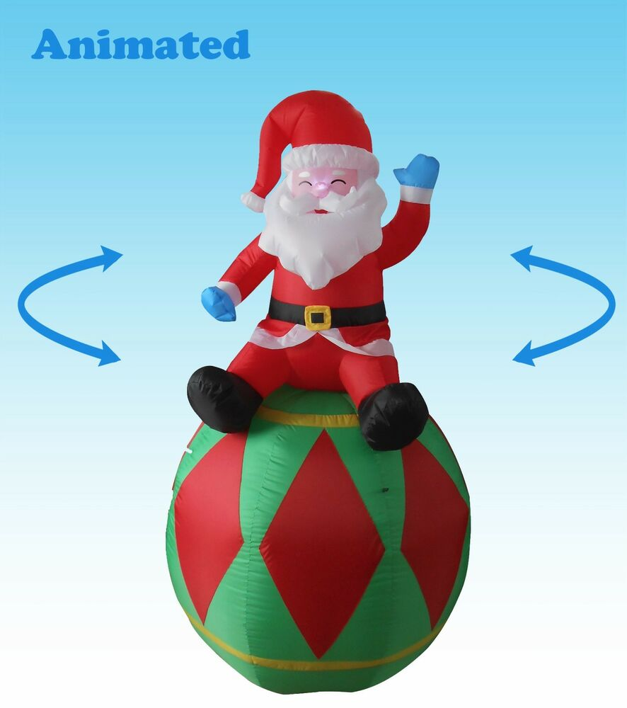 Best Animated Christmas Inflatable Santa Claus Yard Decoration This Month