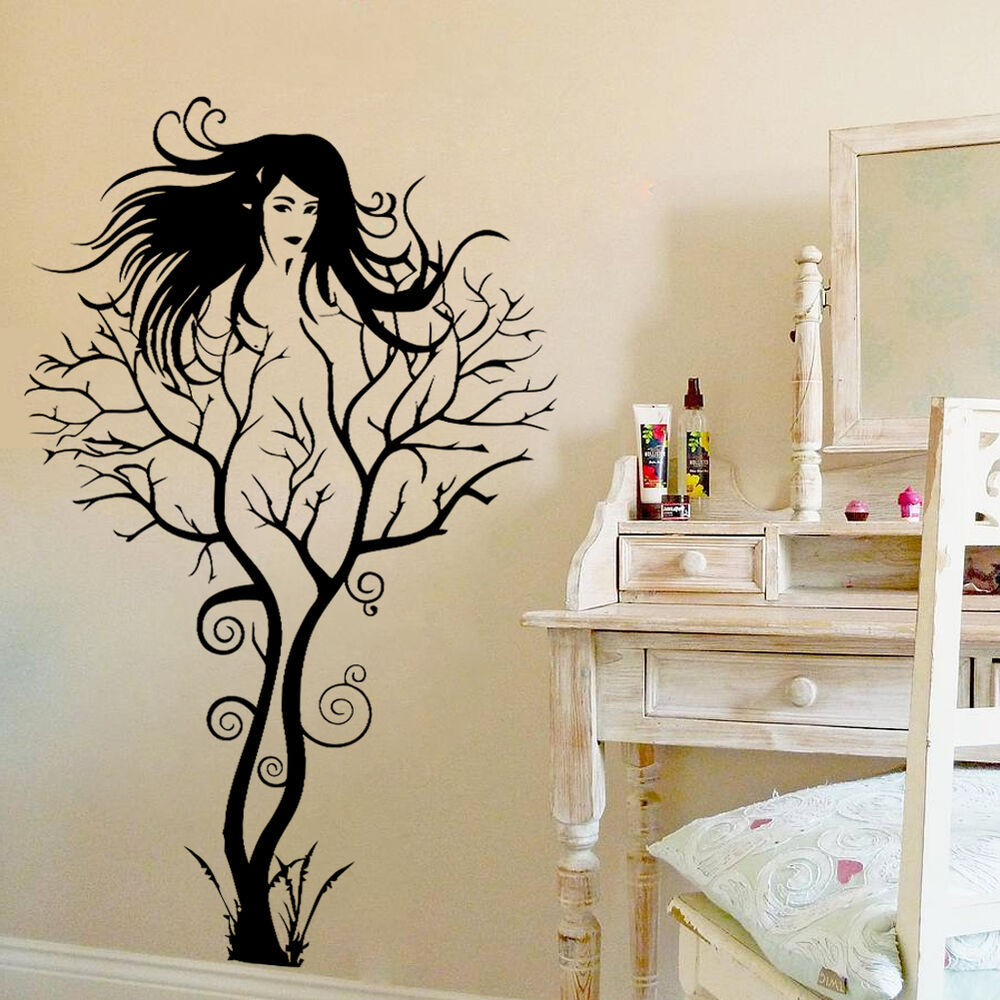 Best Creative S*Xy Girl Tree Removable Wall Sticker Decal Home This Month