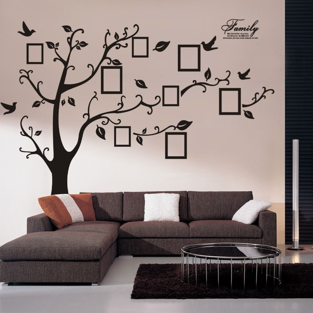 Best Huge Family Photo Frame Tree Vinyl Removable Wall Stickers This Month