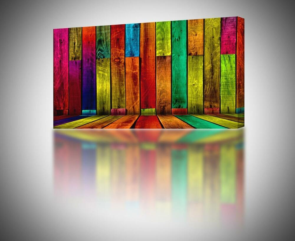 Best 4 Sizes Colorful Abstract Boards Canvas Print Home Wall This Month