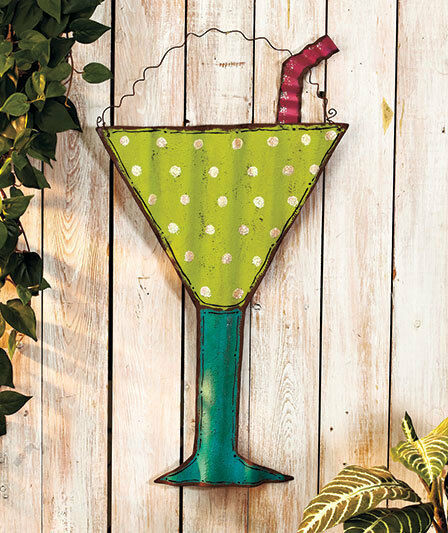 Best Beach Themed Metal Wall Art Hanging Tropical Drink Patio This Month