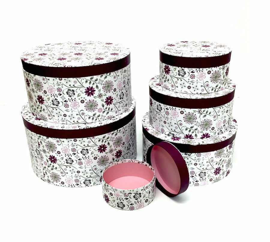 Best Decorative Round Purple Floral Home Office Storage Boxes This Month