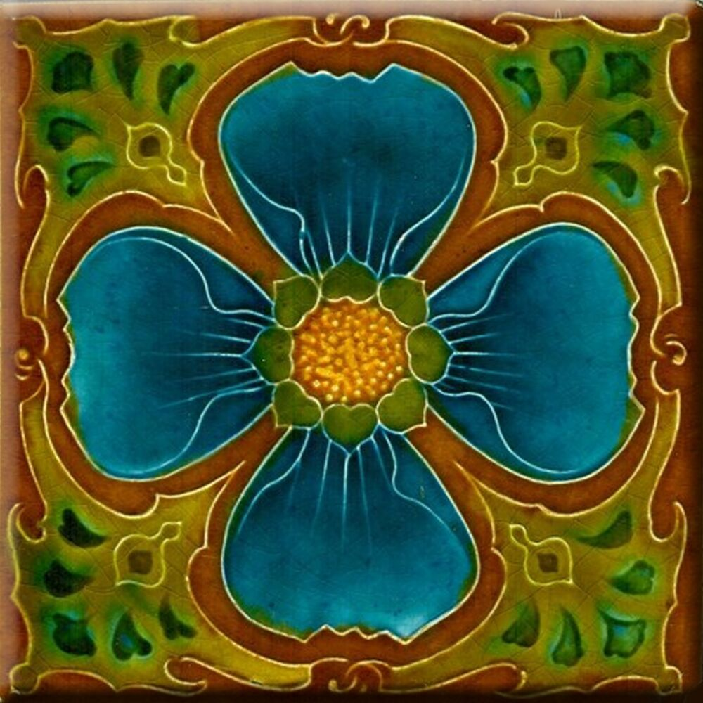 Best Art Nouveau Reproduction Decorative Ceramic Tile 160 Ebay This Month