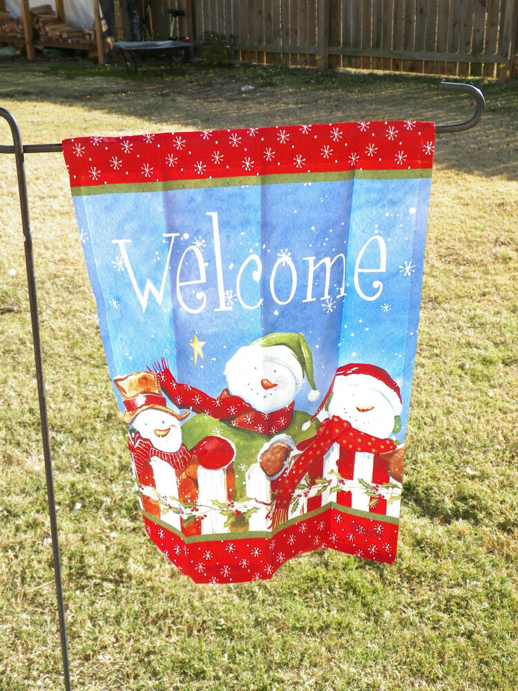 Best New Christmas Snowman Welcome White Fence Decorative This Month