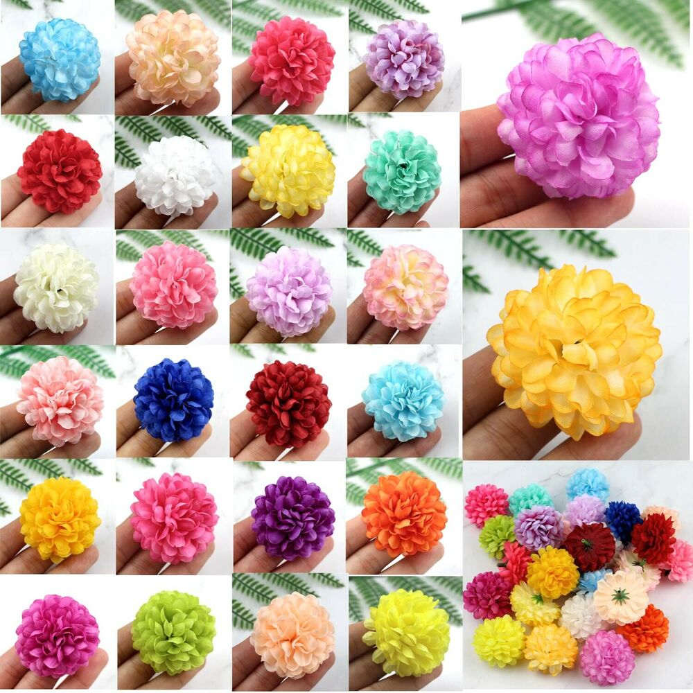 Best 30 100 Pcs Daisy Artificial Fake Flower Silk Spherical This Month