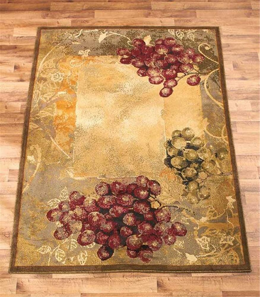 Best Decorative Wine Vineyard Themed Area Rug Carpet Olefin W This Month
