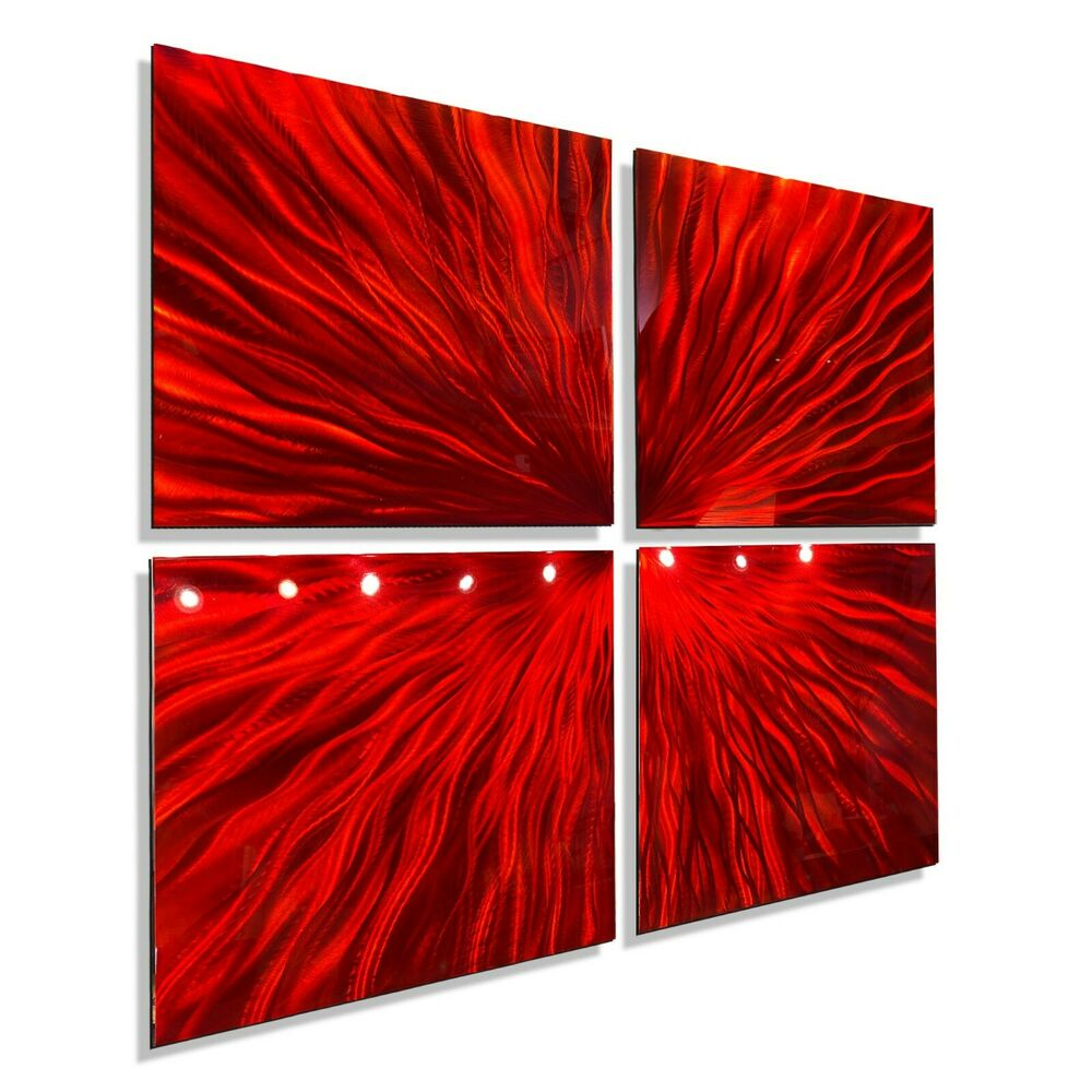 Best Red Modern Abstract Metal Wall Art Sculpture Contemporary This Month