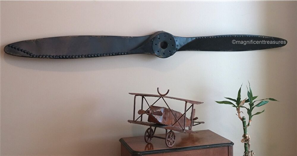 Best Industrial Rustic Metal Airplane Aircraft Propeller Plane This Month