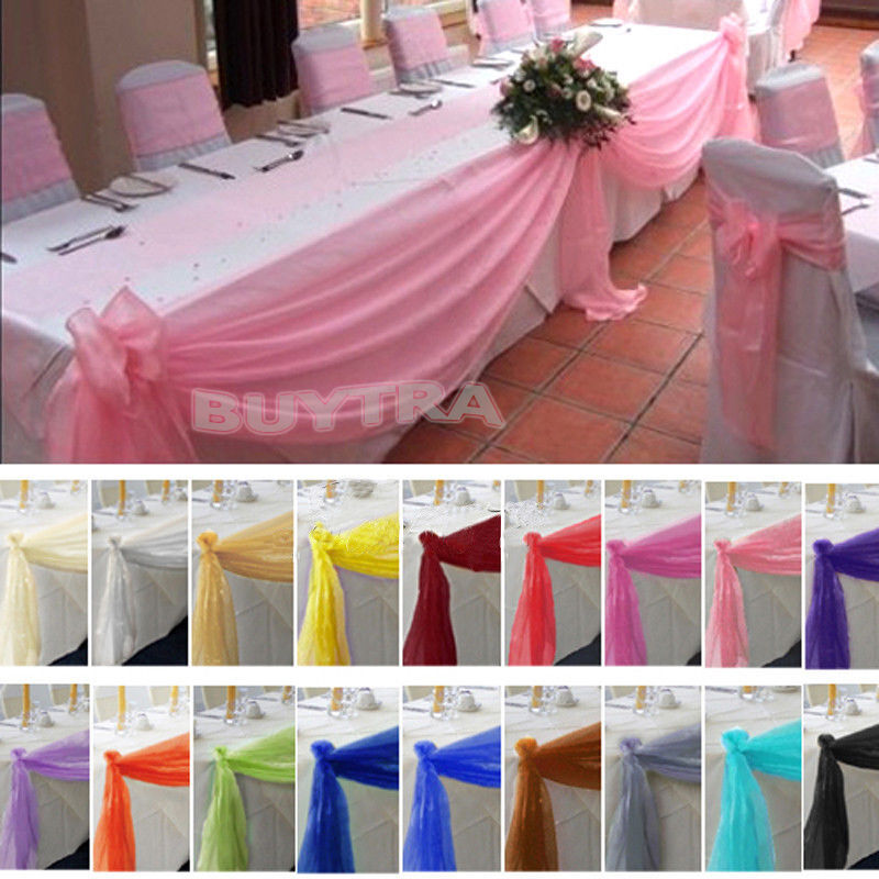 Best Table Swags Sheer Organza Fabric Diy Wedding Party Bow This Month