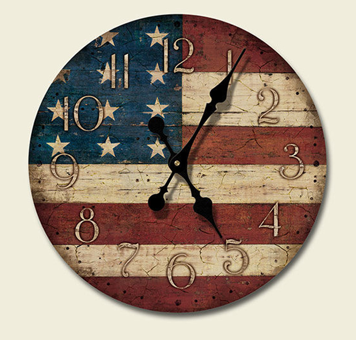 Best Western Lodge Cabin Decor Americana Wood Wall Clock Made This Month