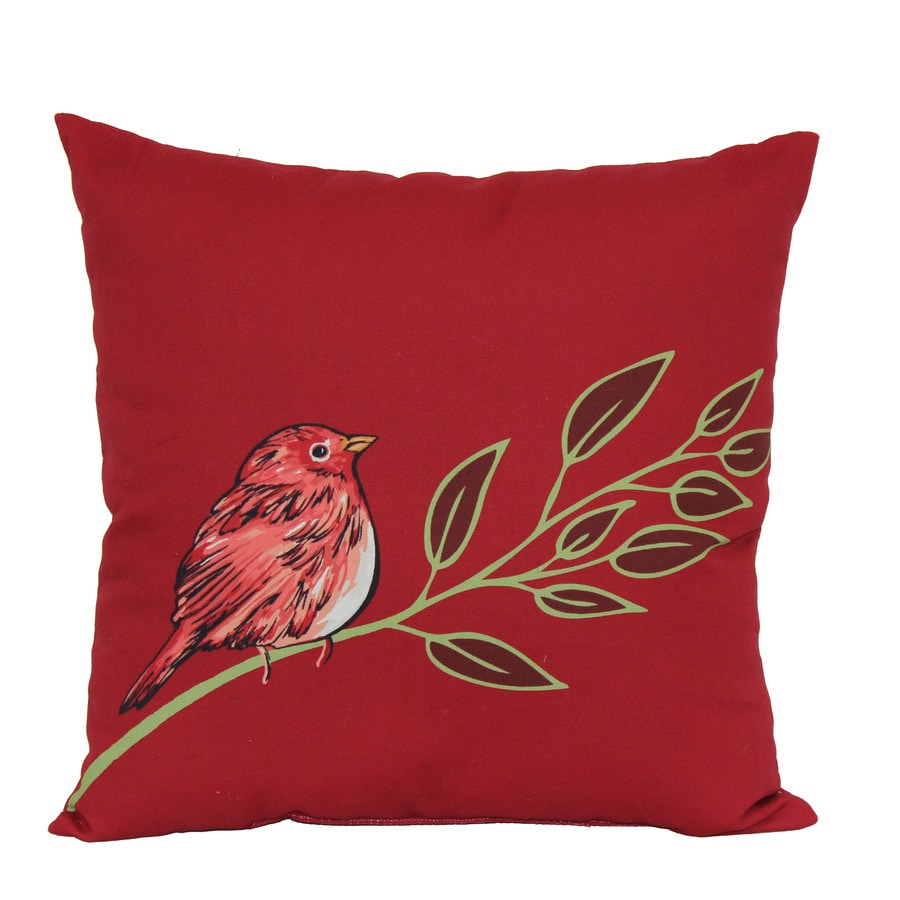 Best Shop Garden Treasures Red Multicolor Floral Square Throw This Month