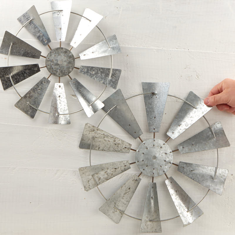 Best Galvanized Windmill Wall Decor Set Wall Decor Home Decor This Month