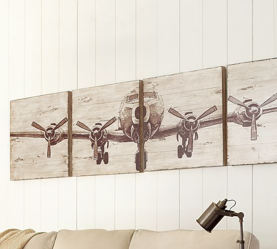 Best Planked Airplane Panels Set Pottery Barn This Month