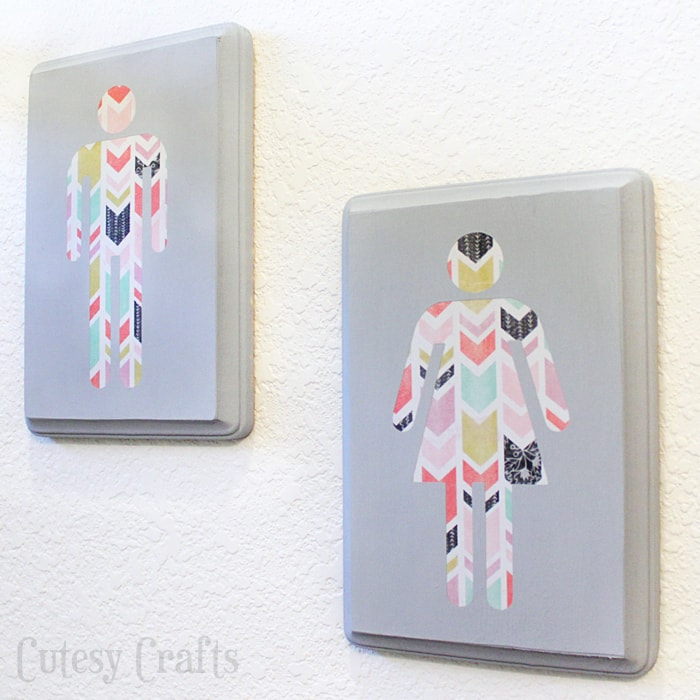 Best Diy Wall Art For The Bathroom Cutesy Crafts This Month