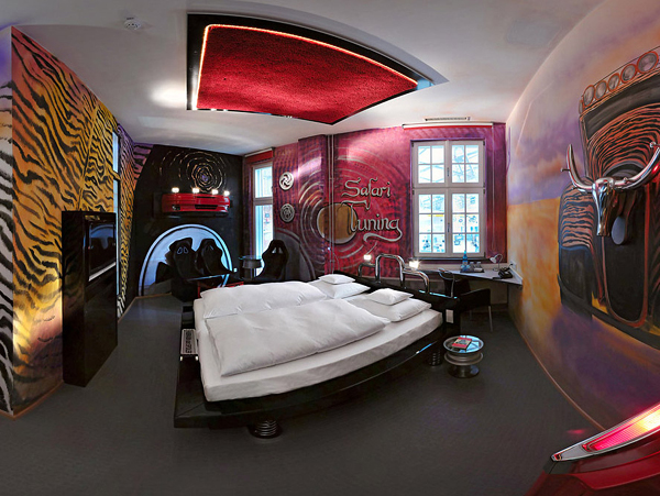 Best Amazing Car Themed Rooms Of V8 Hotel Germany This Month