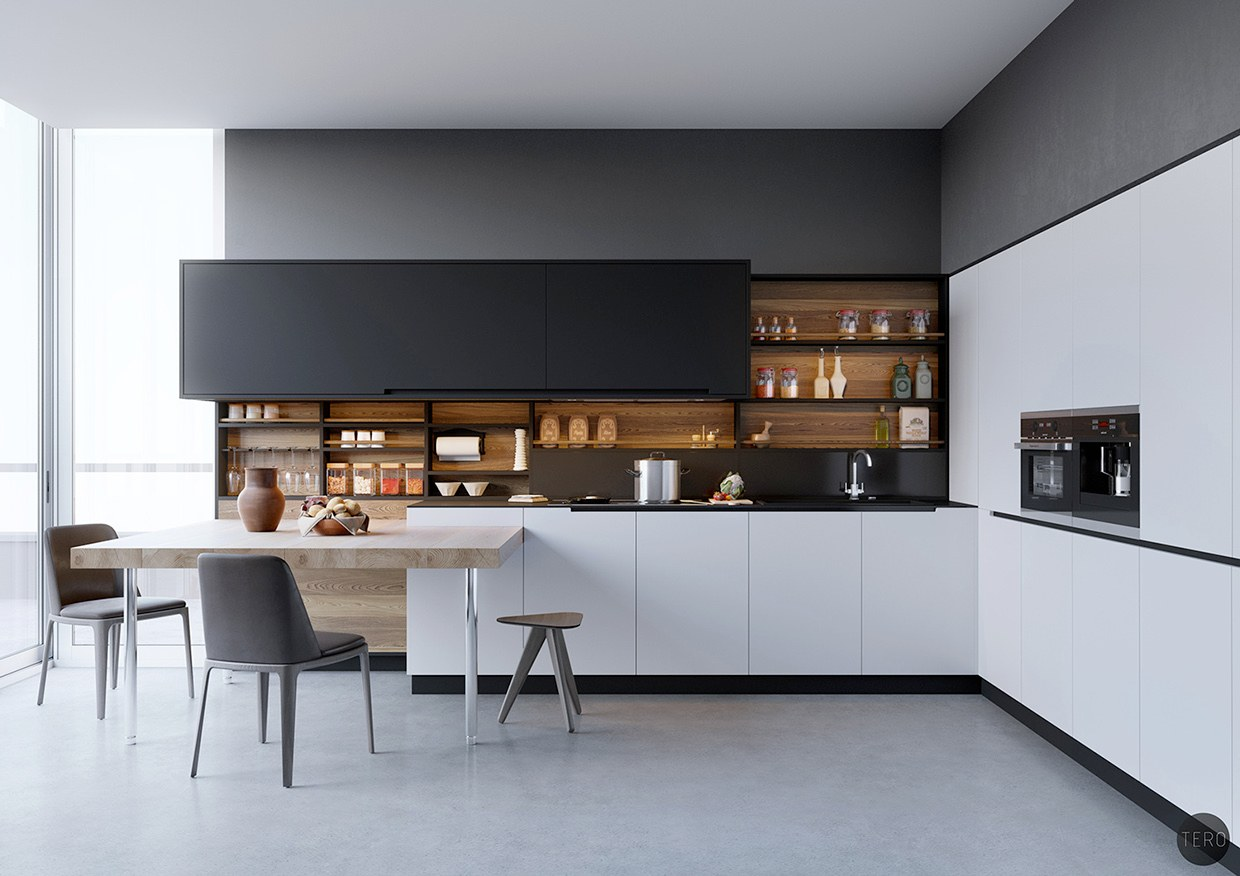 Best Black White Wood Kitchens Ideas Inspiration This Month