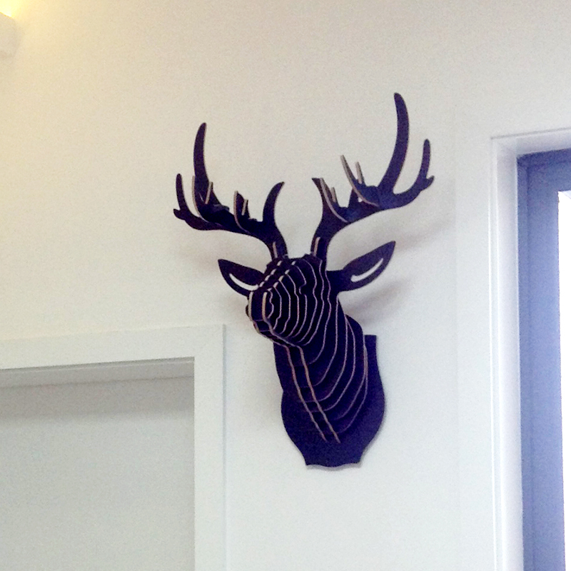 Best Nodic Deer Head Wall Wooden Crafts For Home Decorations This Month