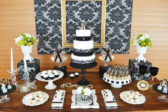 Best Birthday Party Ideas Shops — Gold Black Damask 70Th This Month