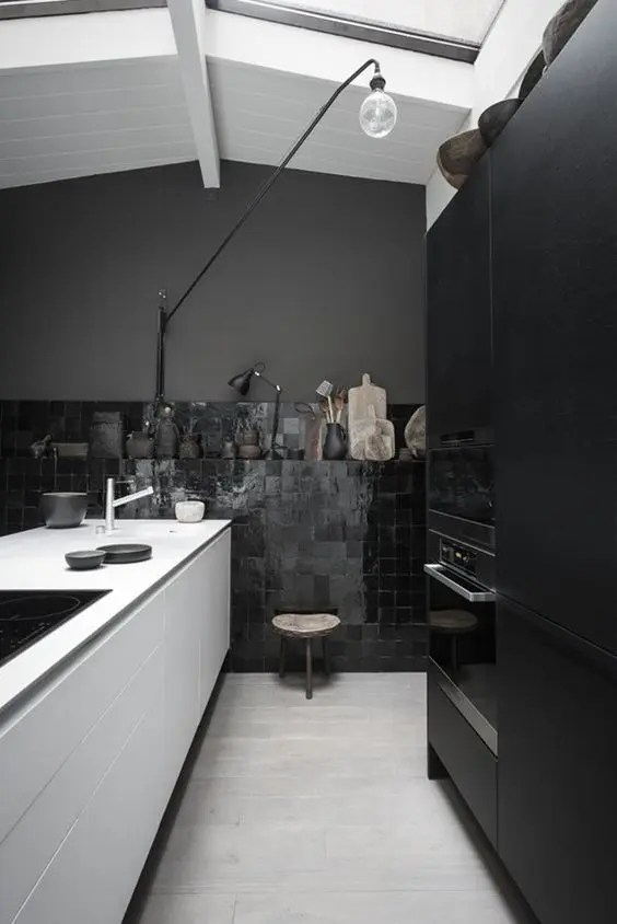 Best 27 Moody Dark Kitchen Décor Ideas Digsdigs This Month