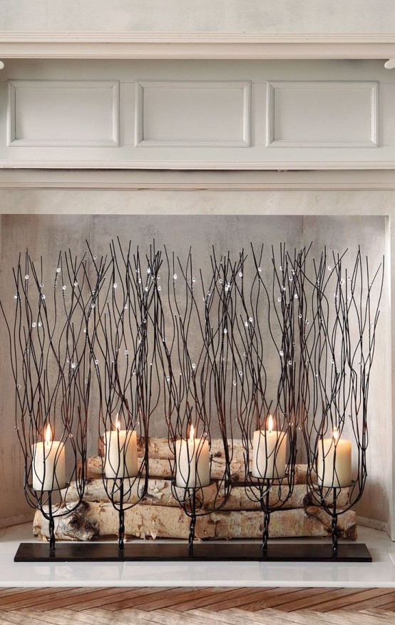 Best 30 Adorable Fireplace Candle Displays For Any Interior This Month