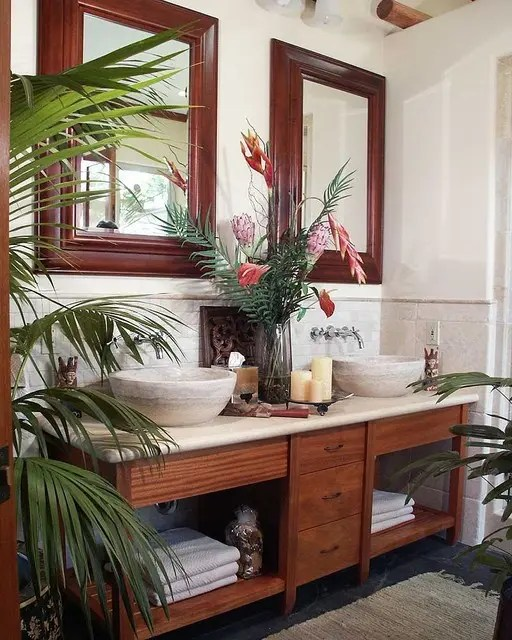 Best 42 Amazing Tropical Bathroom Décor Ideas Digsdigs This Month