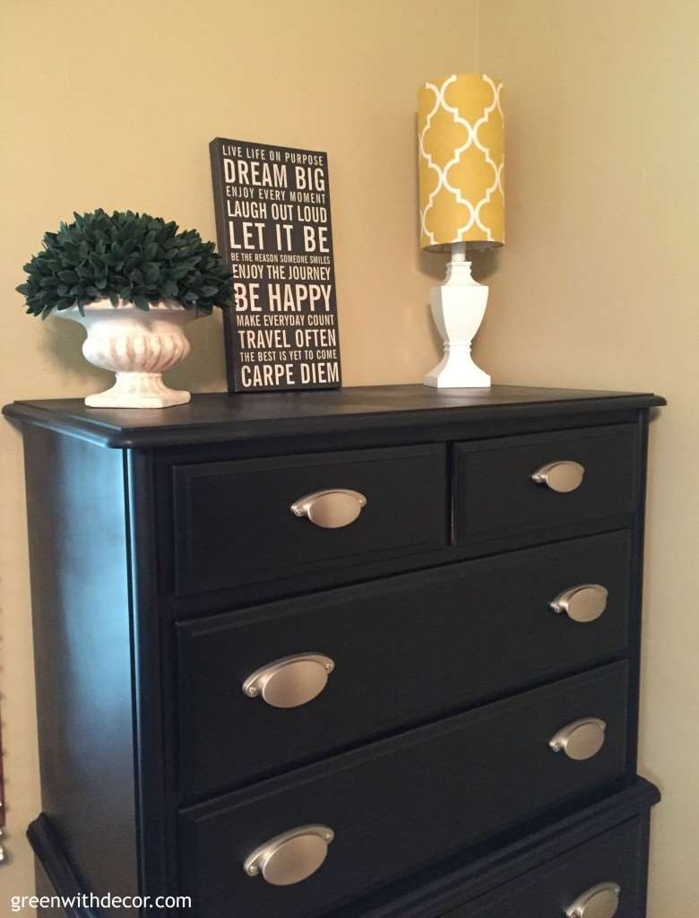 Best Green With Decor – A Dresser Makeover With Spray Paint This Month