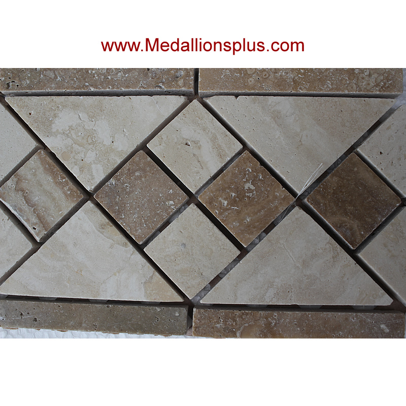 Best Travertine And Marble Diamond Tile Border 4 X 12 This Month