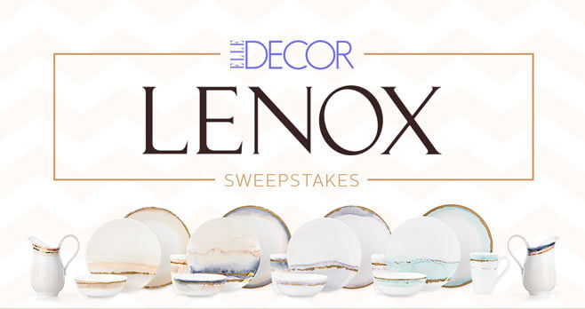 Best Elle Decor Lenox Sweepstakes This Month