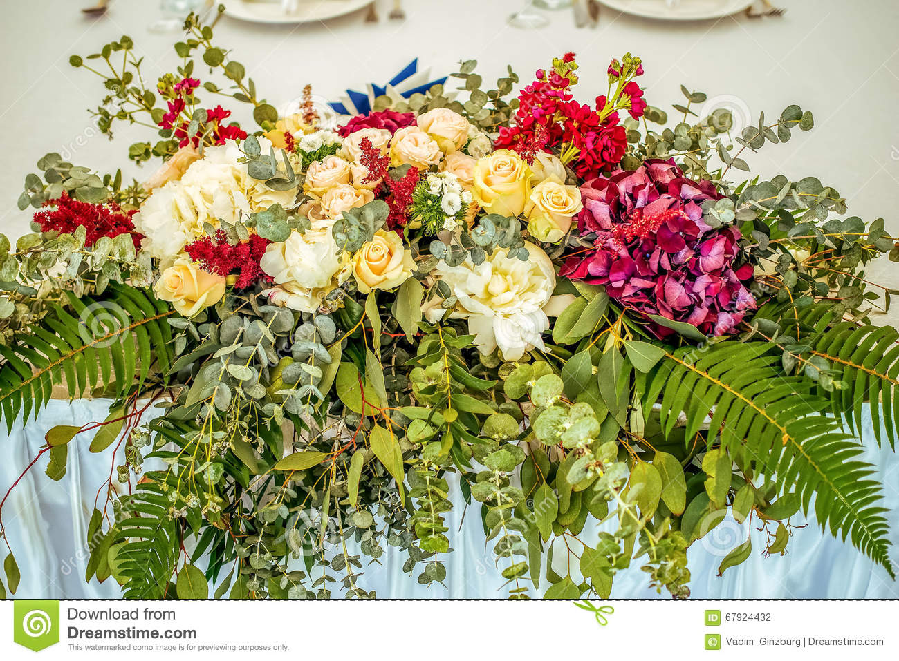 Best Wedding Table Beautiful Flower Decoration Stock Photo This Month