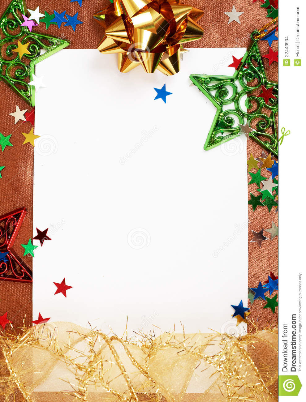 Best White Christmas Card With Decorations Stock Images Image This Month