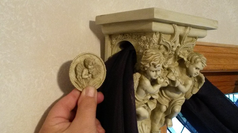 Best Angel Cherub Wall Sconce Drapery Holder Home Decor This Month