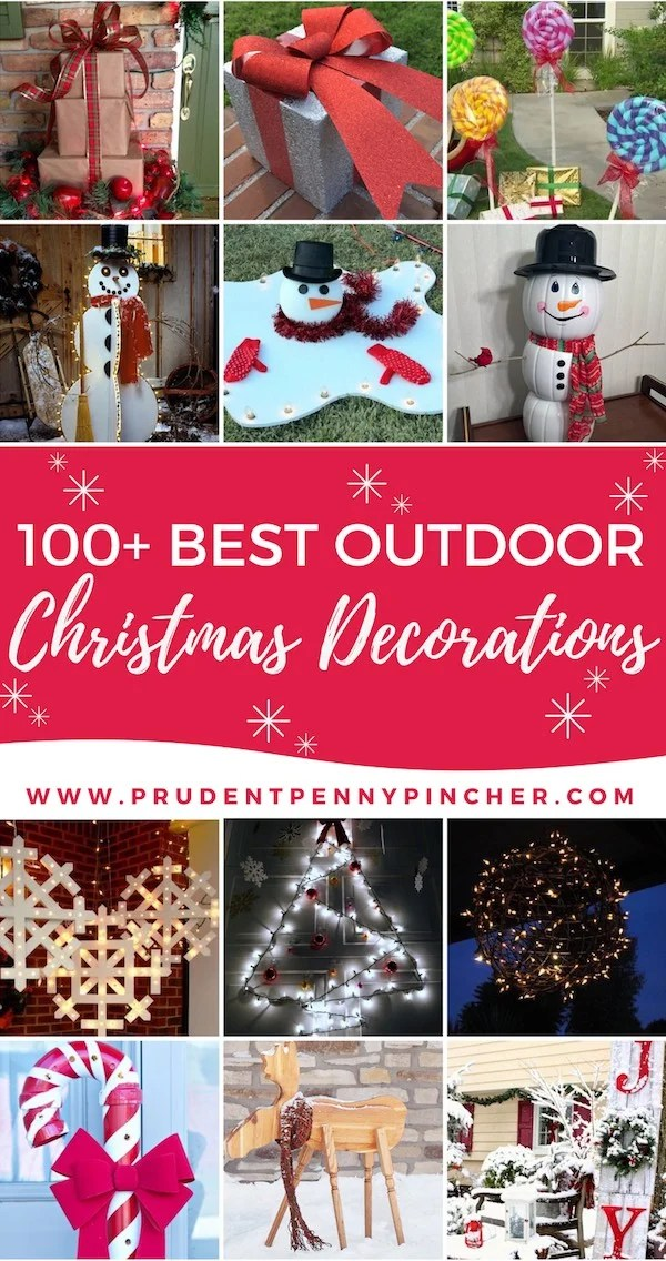 Best 100 Best Outdoor Diy Christmas Decorations Prudent Penny This Month