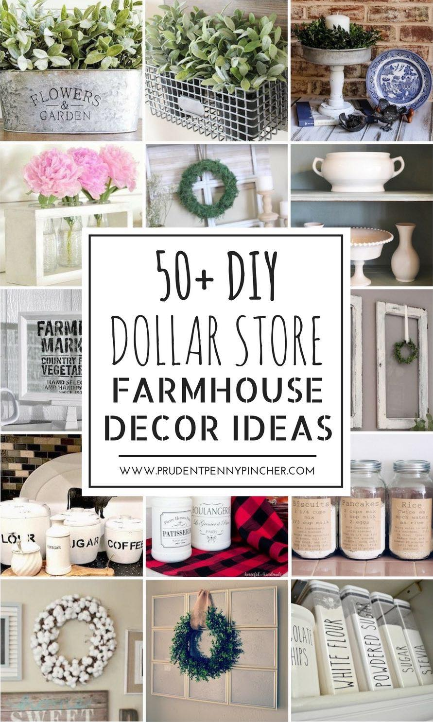 Best 50 Dollar Store Diy Farmhouse Decor Ideas Prudent Penny This Month