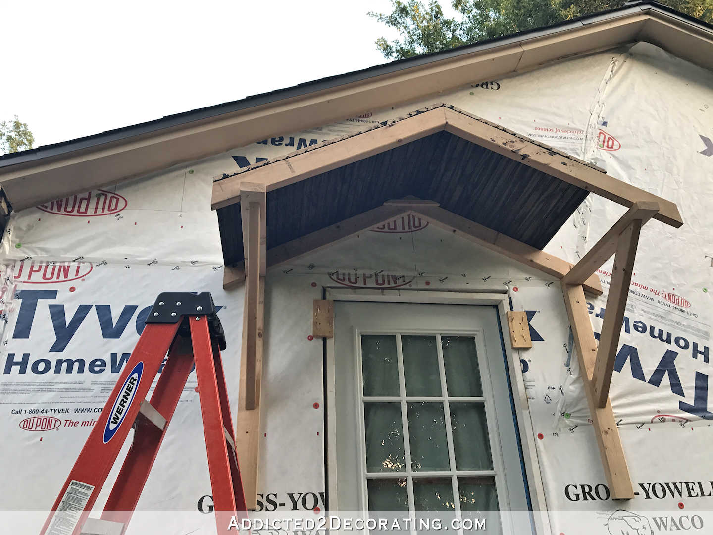 Best Diy Portico Part 2 Finishing The Ceiling The Roof This Month
