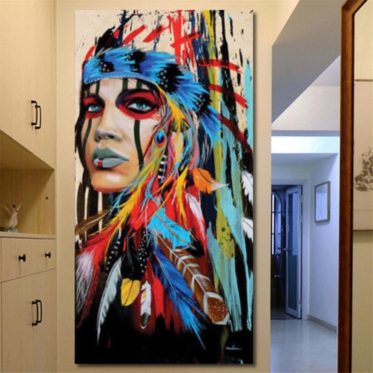 Best Abstract Indian Woman Canvas Oil Painting Print Picture This Month