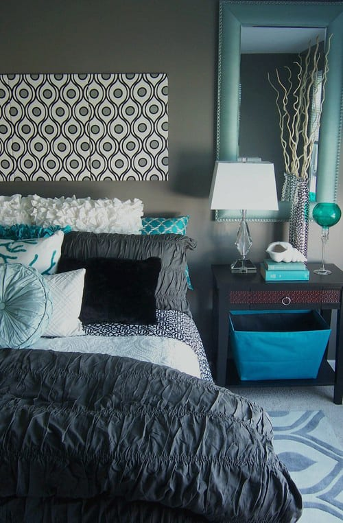 Best 41 Unique And Awesome Turquoise Bedroom Designs The This Month