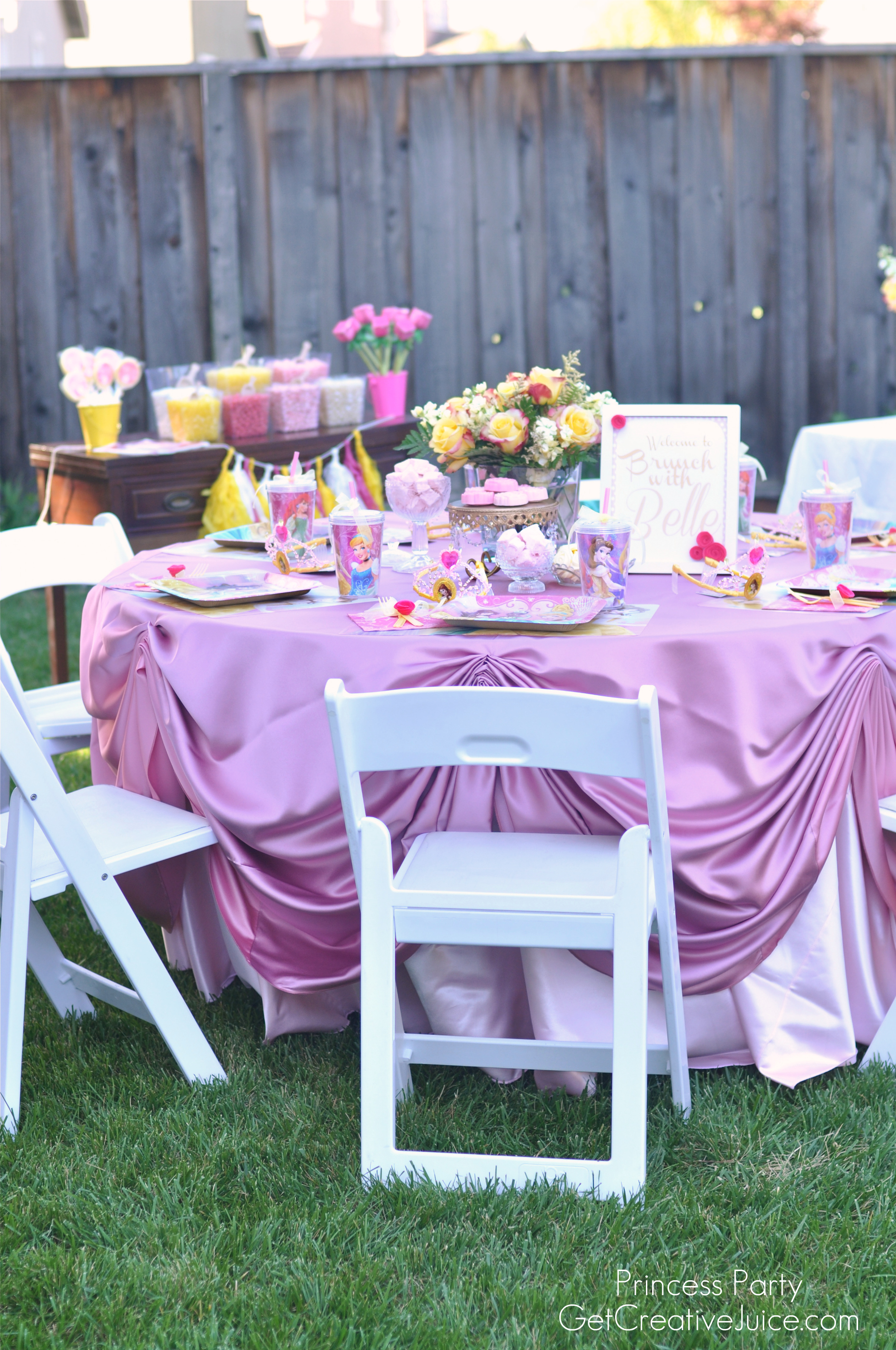 Best Disney Princess Party With Belle Part One Creative Juice This Month