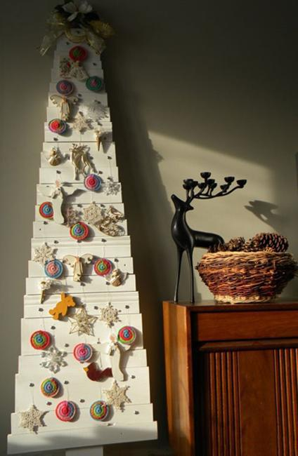 Best 40 Diy Alternative Christmas Trees Adding Fun Wall This Month
