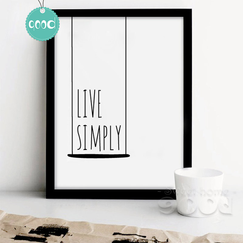 Best Aliexpress Com Buy Simple Life Quote Canvas Art Print This Month