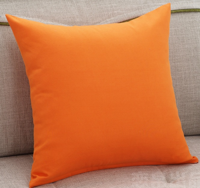 Best Orange Solid Color Throw Cushions Covers Square Sofa This Month