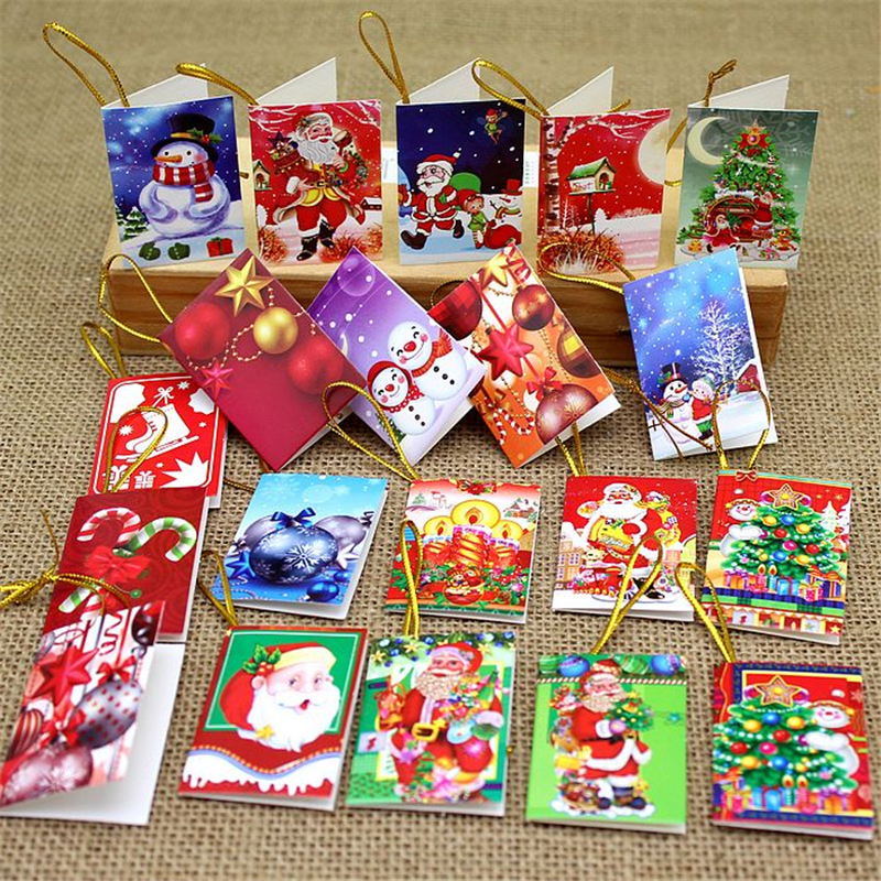 Best 64Pcs Christmas Tree Decoration Card Christmas Wish Cards This Month