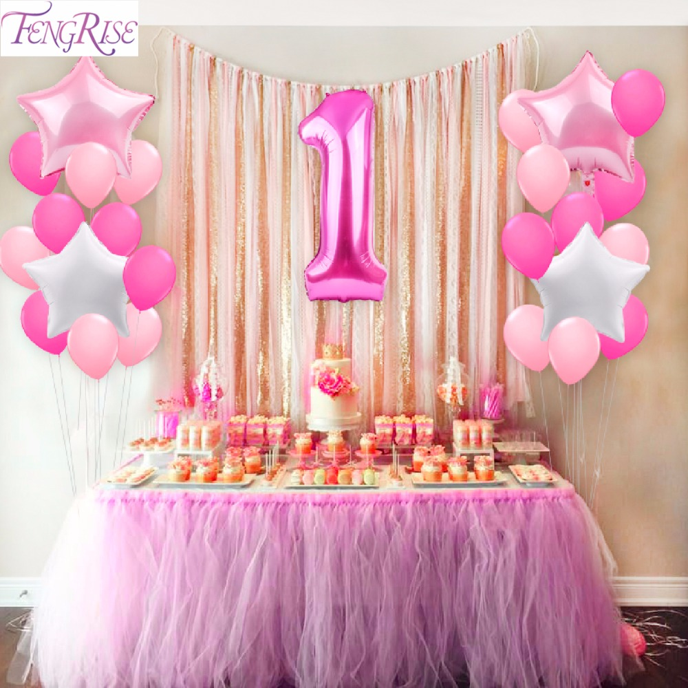 Best Aliexpress Com Buy Fengrise 25Pcs 1St Birthday Balloons This Month
