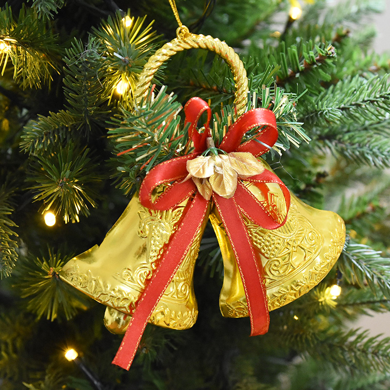 Best 6Pcs Christmas Elk Tree Bell Decoration Hanging Ornaments This Month