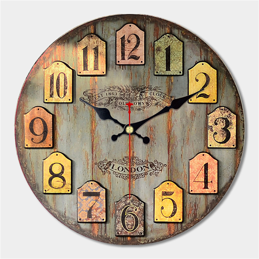 Best 12 Large Wall Art Clock Vintage Wood Modern Silent Living This Month