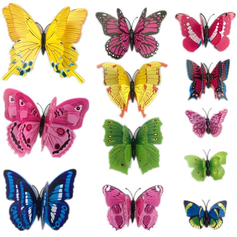 Best 12Pcs 3D Pvc Wall Stickers Magnet Butterflies Diy Home This Month