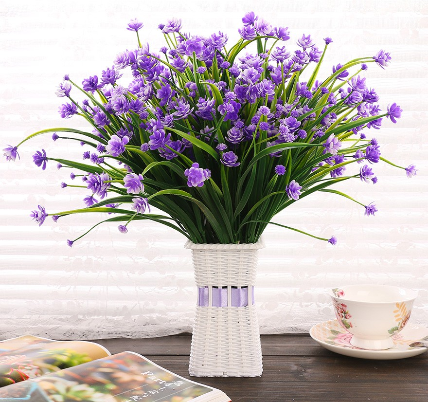 Best 2Pcs Lot Real Touch Decorative Artificial Flowers Cheap This Month