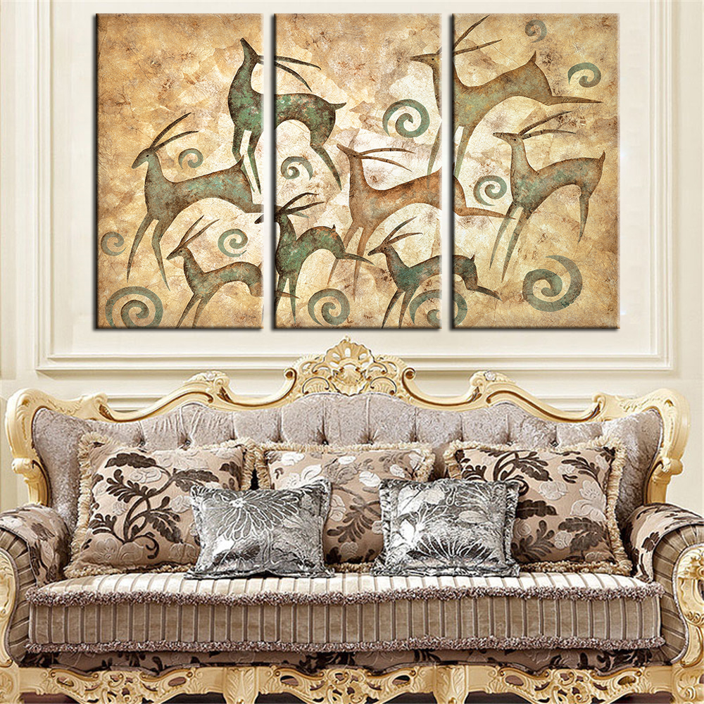 Best Drop Shipping Deer Wall Painting Home Decor Canvas This Month