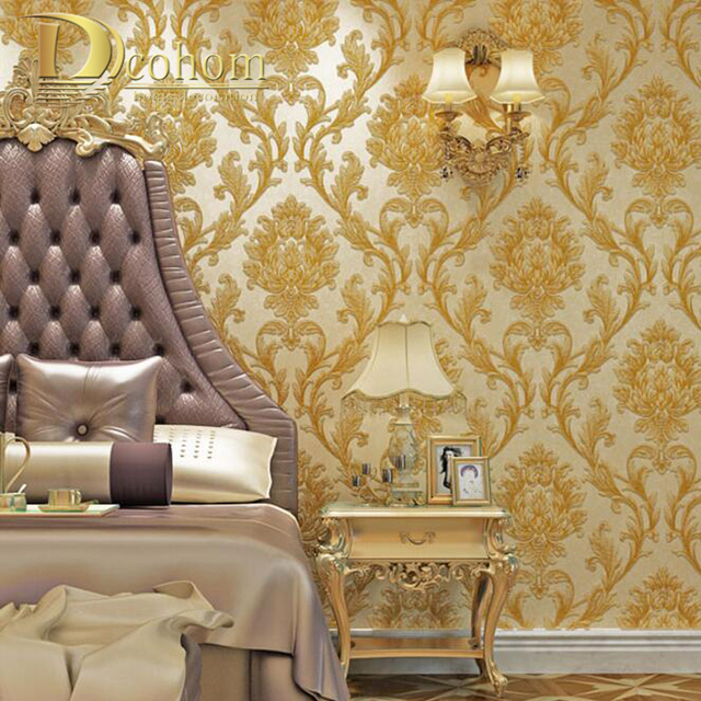 Best Luxury Simple European 3D Striped Damask Wallpaper For This Month
